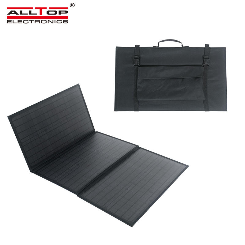ALLTOP Hot sale portable intelligent recognition is widely compatible waterproof 100w folding solar panel