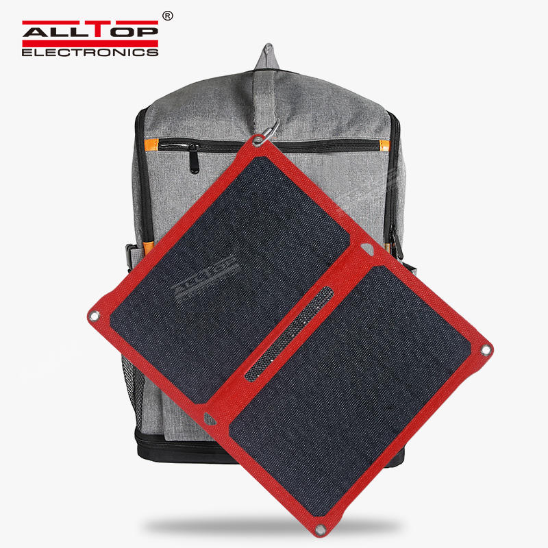High efficiency monocrystalline 7W solar panel charger folding solar panel with USB interface