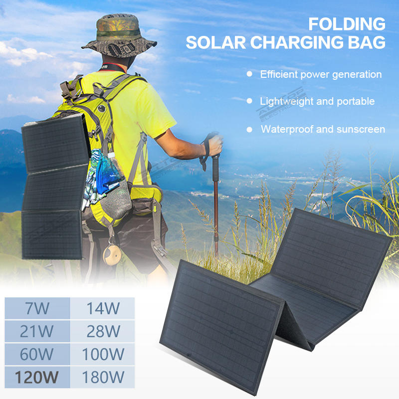 ALLTOP Foldable Solar panel Kit 100W Portable Outdoors Waterproof Solar Panel for with Battery