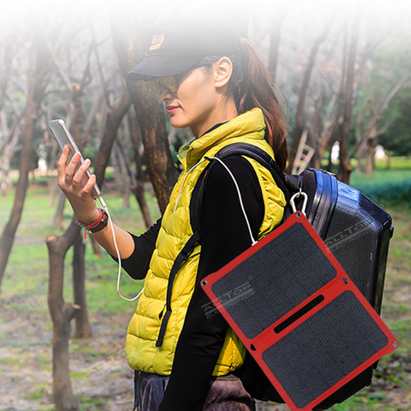 ALLTOP High quality Portable can be charged to a variety of electrical folding solar panel with battery