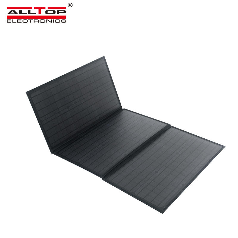 ALLTOP High quality 100w 4 folds solar panel portable folding solar panels for camping