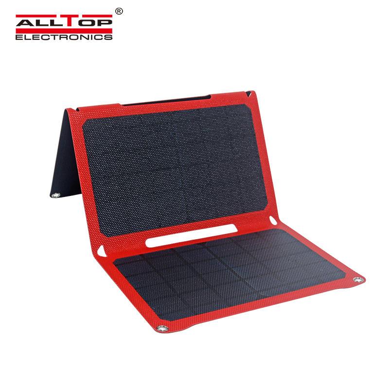 ALLTOP Waterproof Portable Solar Folding Charger 21W Folding Solar Panel