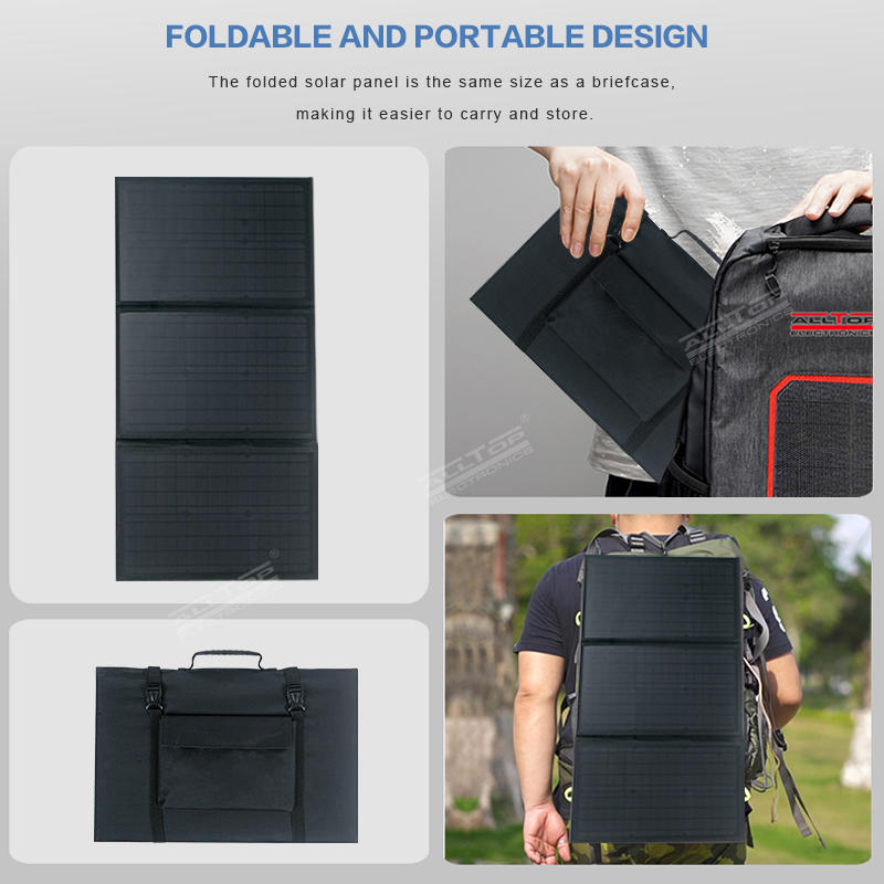 ALLTOP High efficient power generation Lightweight waterproof portable foldable solar panel