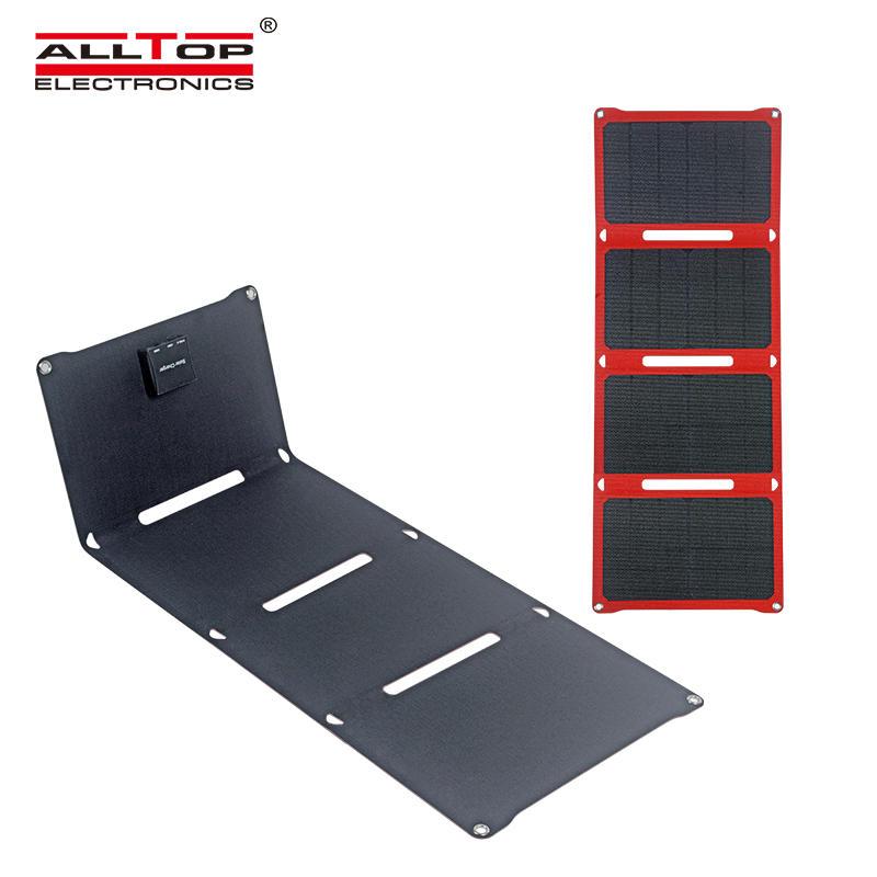 ALLTOP Portable folding outdoor camping monocrystalline silicon 28w foldable solar panel