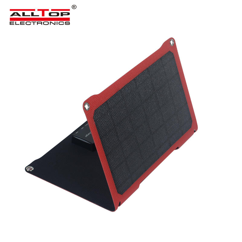 ALLTOP Waterproof fabric portable foldable blanket 14w folding solar panel with short circuit protection
