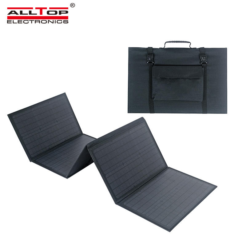 ALLTOP New arrived intelligent recognition is widely compatible waterproof 150w portable folding solar panel