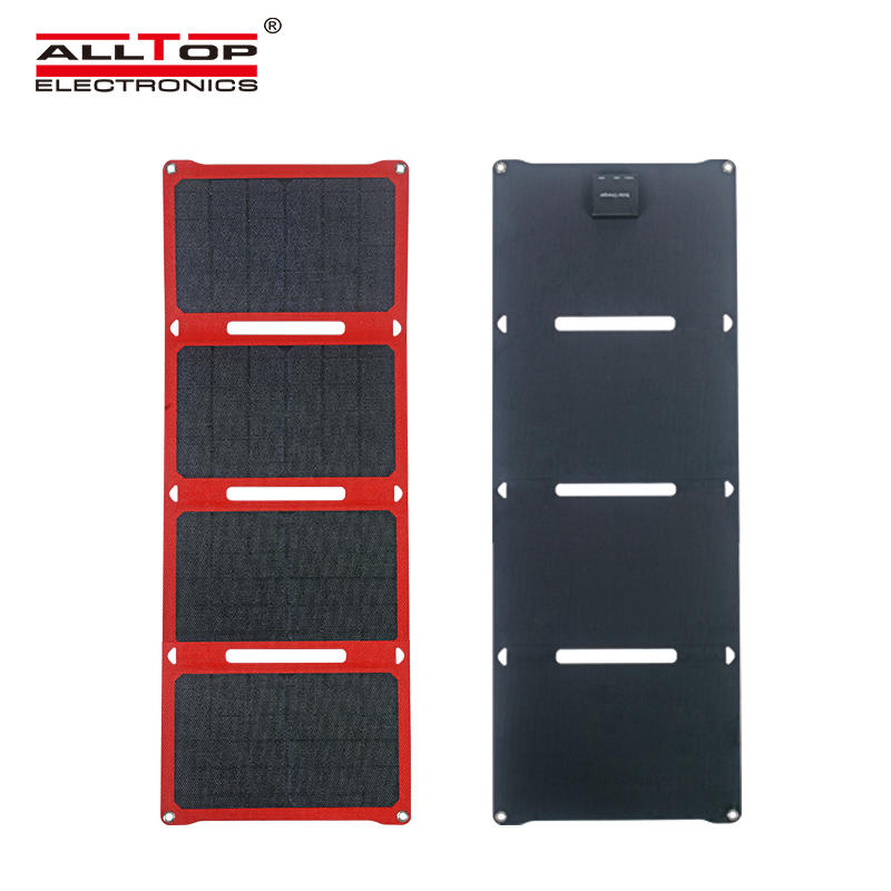 ALLTOP High quality Portable USB interface can charge mobile phones tablets power banks foldable solar panel