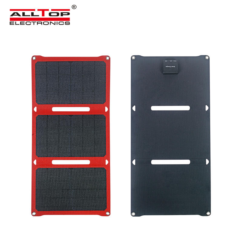 ALLTOP Portable lightweight USB interface foldable solar power panel prices
