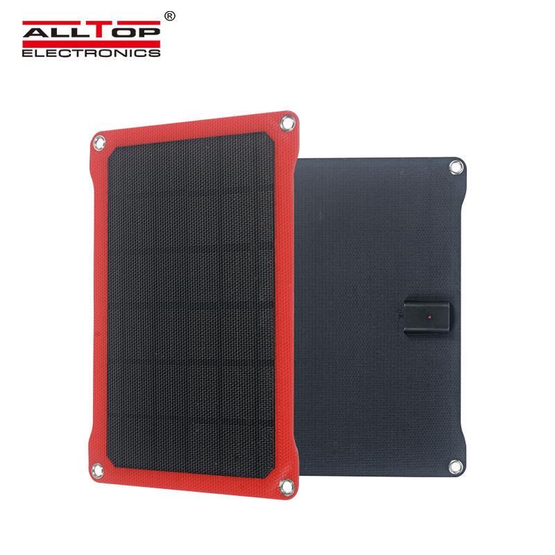 ALLTOP High efficiency portable solar module 14w 6v monocrystalline cell folding solar panel