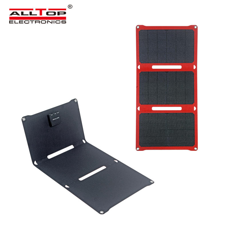 ALLTOP High quality Lightweight and portable USB interface Foldable solar panel can charge mobile phones