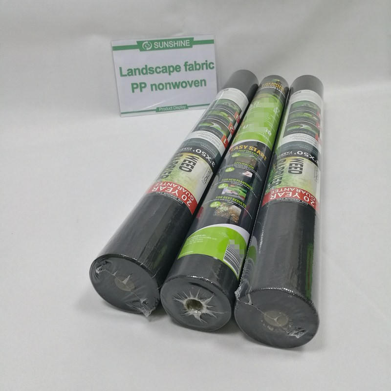 80gsm non-woven spunbonded weedmat fabric for NZ market