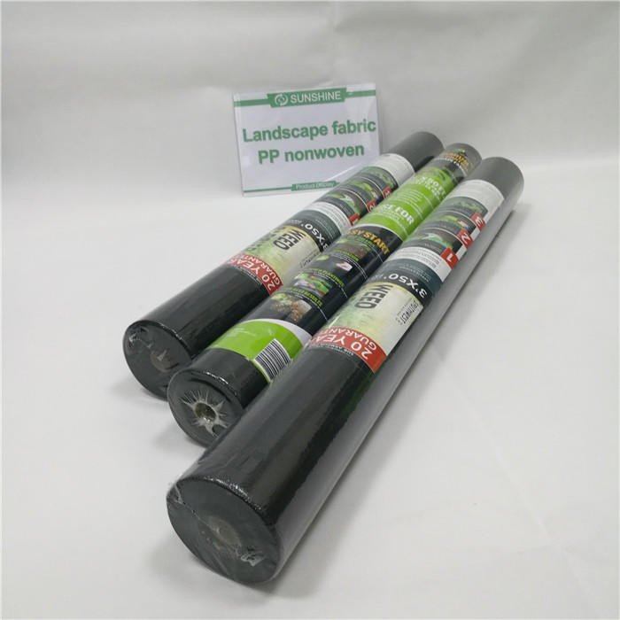 Cheap Small Roll 50 gsm 100%PP Black Nonwoven Landscape Fabric for Weed Control