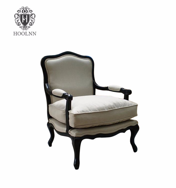 French Provincial Luxury Single Seater Wood Sofa Chairs