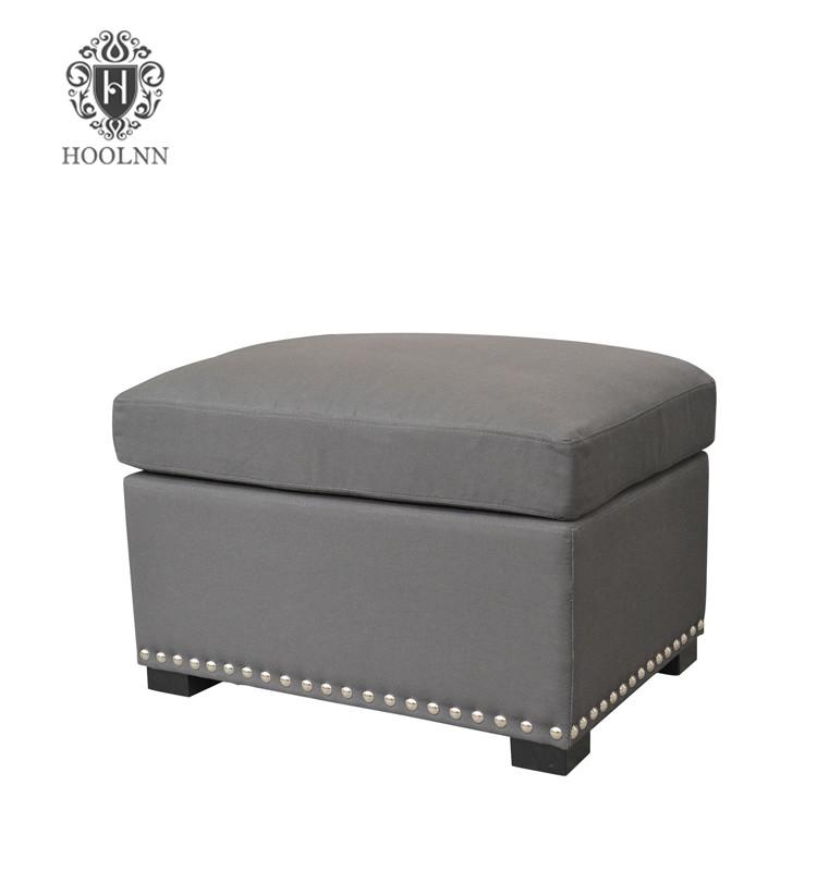 Upholstered Wood Ottoman HL040