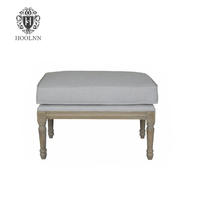 Antique Tufted Upholstered Ottoman HL219