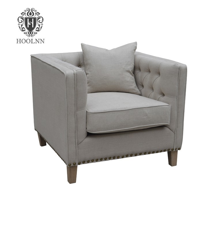 French Style Linen Upholstery Loveseat HL210-85