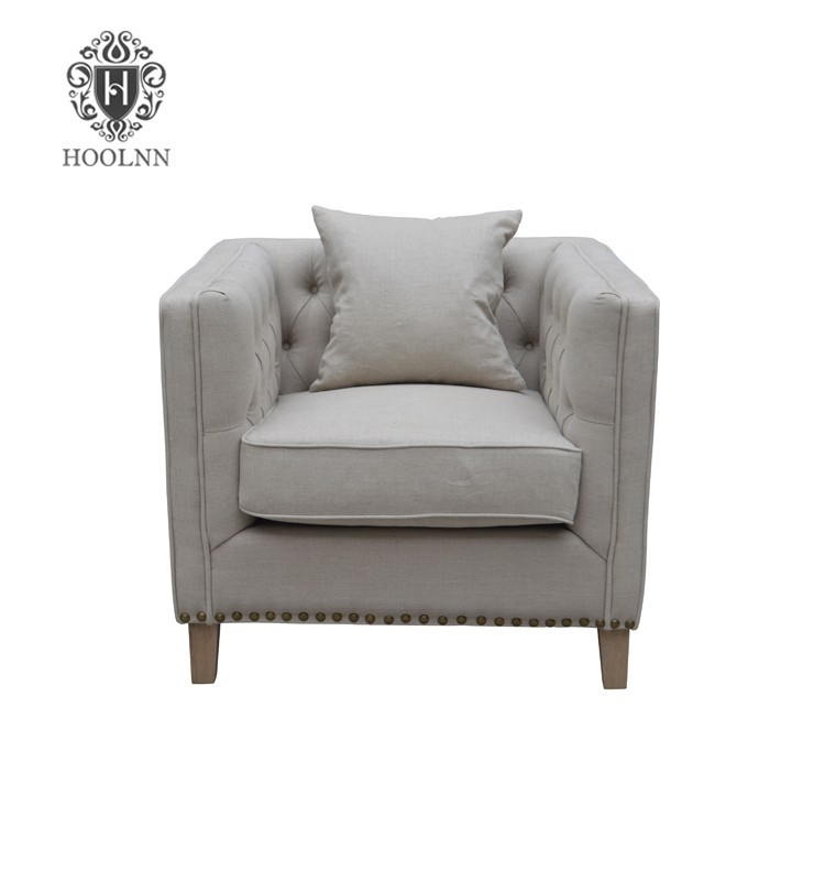 Vintage French Provincial Style Long Sofa