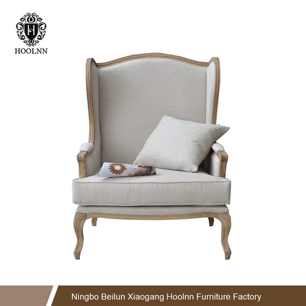 French Style Antique Upholstered Wing Back Armchair HL198
