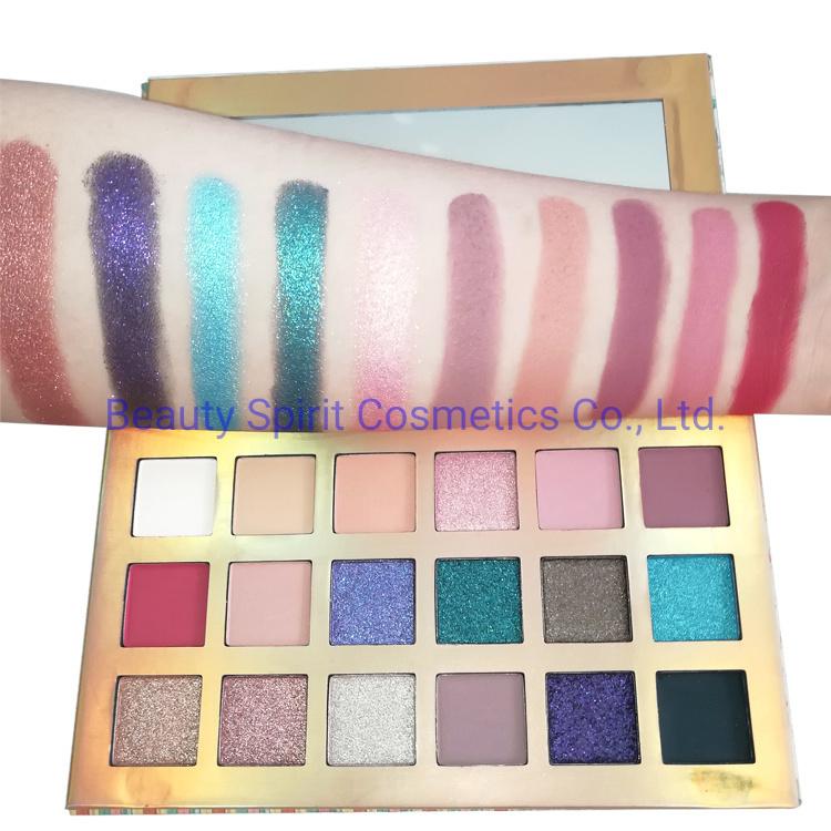 OEM Brand Quality Customized Eyeshadow Palette Cosmetics Makeup Kit Manufactory