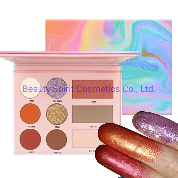 OEM High Pigment Eye Shadow Palette Cosmetics Makeup Kit Face Highlighter Eyeshadow
