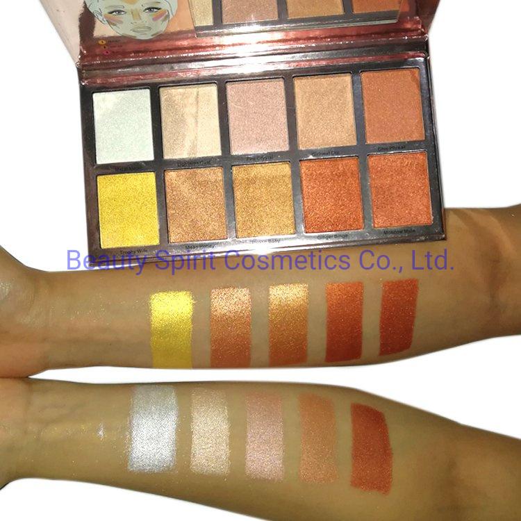 OEM Big Brand Quality Cosmetics Makeup Bronzer Eyeshadow Palette Makeup Face Highlighter