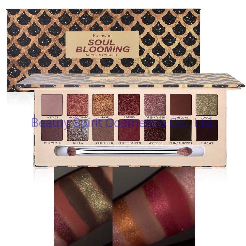 OEM Customized Eyeshadow Palette High Pigment Glitter Cosmetics Makeup Eye Shadow