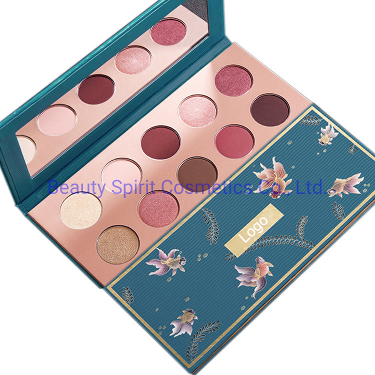 OEM 10 Color Big Brand Quality Customized Eyeshadow Palette Highlighter Cosmetics Makeup Set