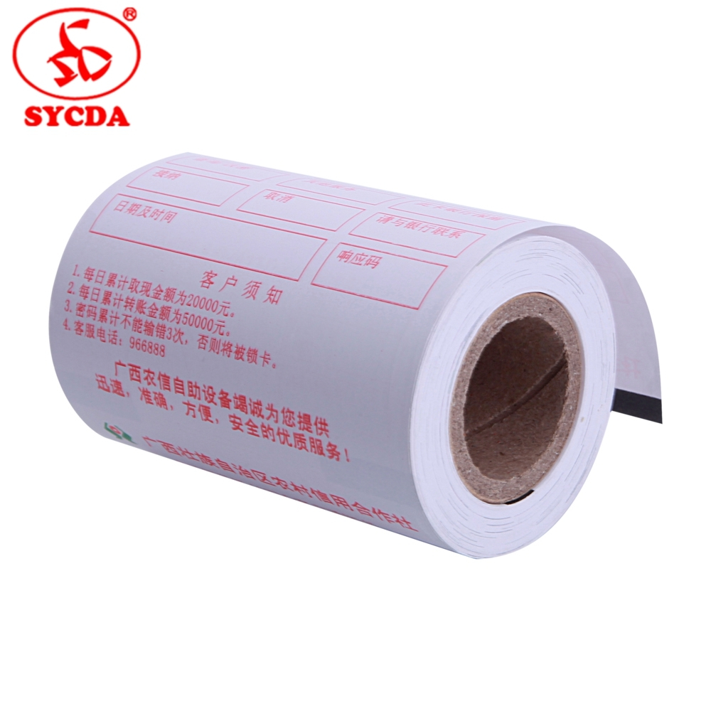 High Quality Credit Card Pre-print Paper Roll Thermal Paper 65GSM POS System Cheap Price