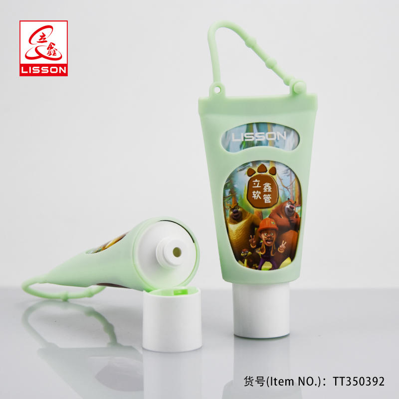100ml hand cream tube skin care container with soft silicon gel packing