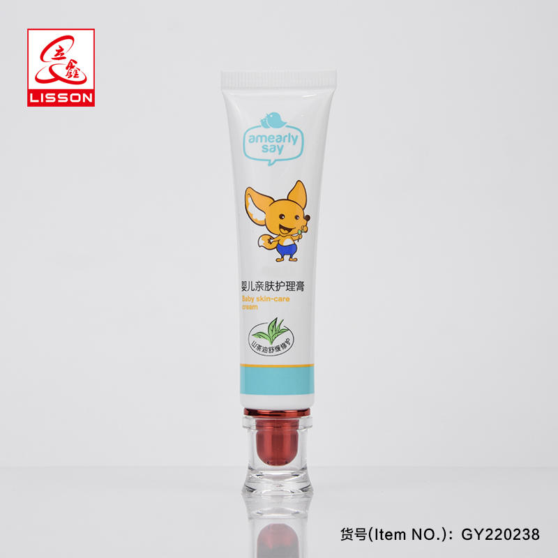 Empty Kitty Cosmetic Tube Packaging With Luxury Ending Acrylic Cap