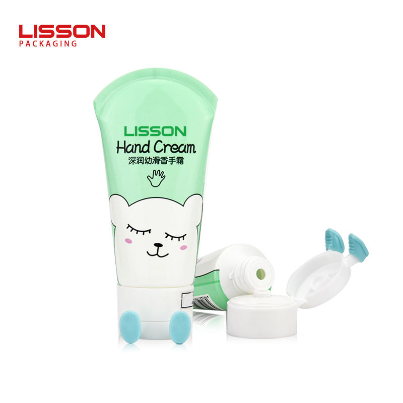 ldpe soft plastic hand cream tube with foot shape flip top cap