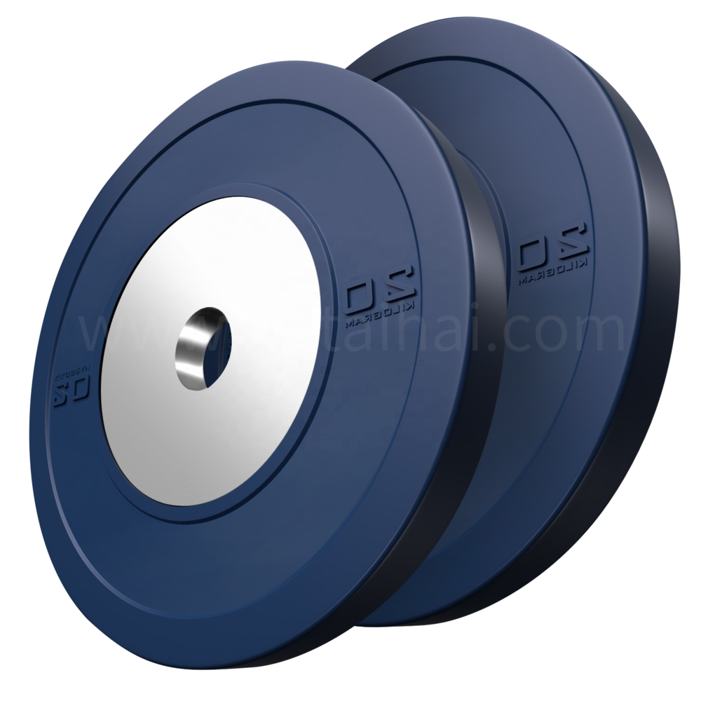 Competition Bumper Plate Custom 45 pounds Olympic Rubber Competition Gym kg Change Bumper Plates Weight Lifting Plate Set Lbs
