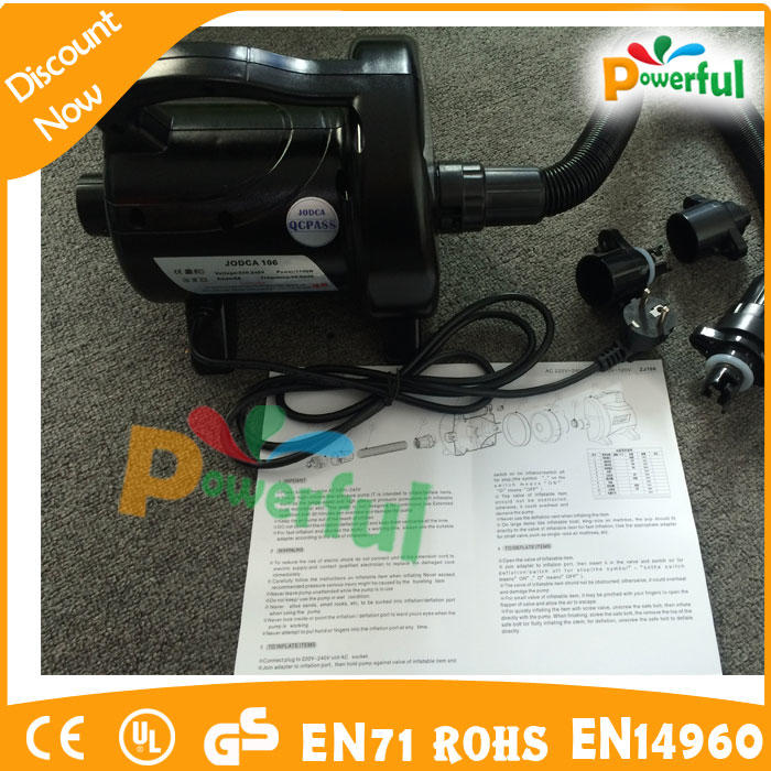 airtight inflatable products used air pump