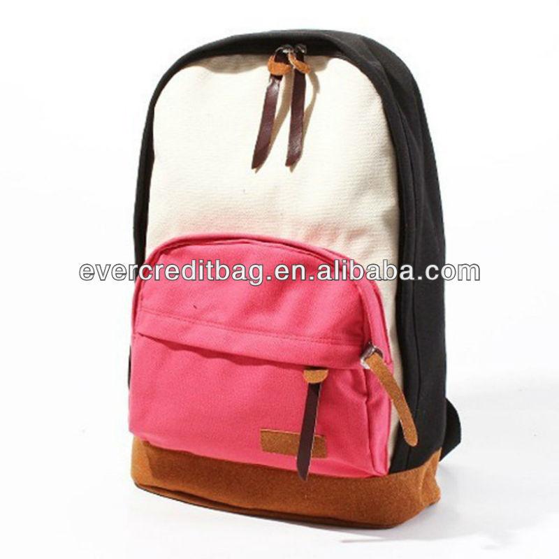 Hot Sale Womens Ladies Korean Version Canvas School Campus Backpack Shoulder Bag