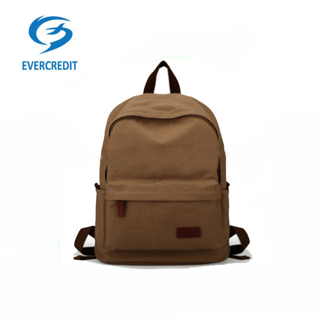 canvas travel bag for college student leisure backpack bag