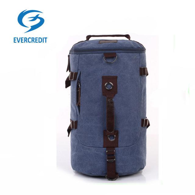 camo blue durable blank military canvas bag backpack