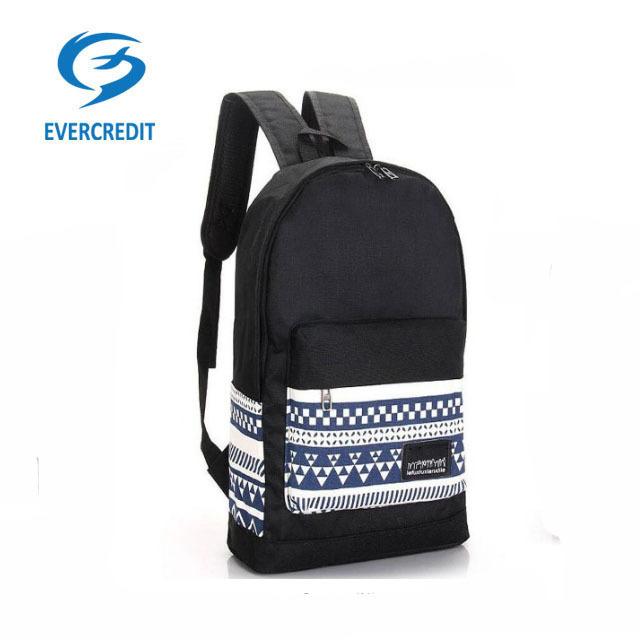 Fashion canvas printing school backpack