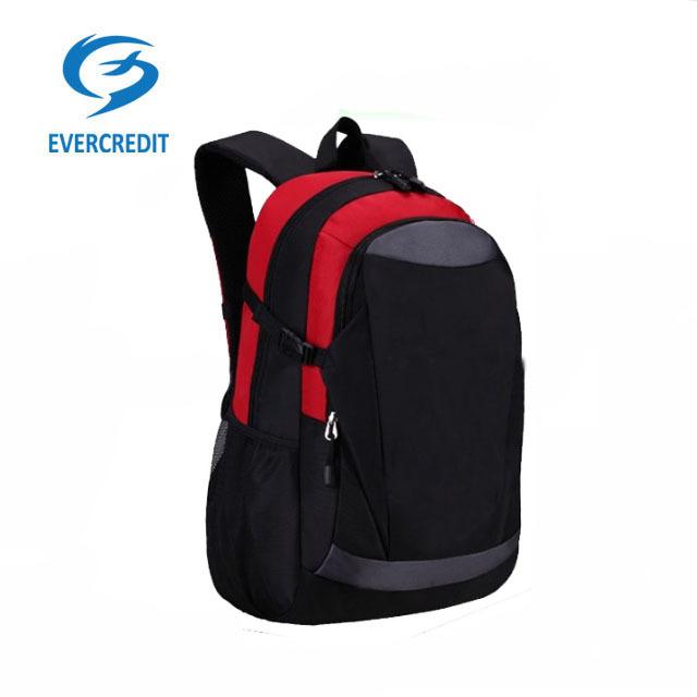 1680D black polyester computer travel hiking backpack bag