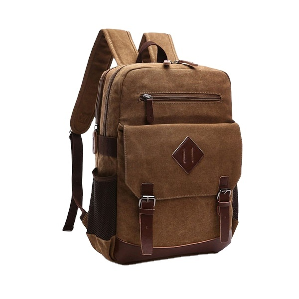 2021 Hot Selling Heavy Duty Vintage Canvas Backpack