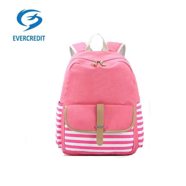 Teenager Girls Boys Fashion Canvas School Bag Hiking Backpacks for Travel