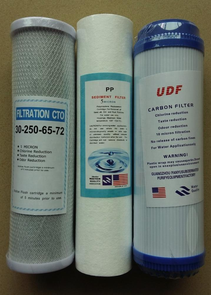 Household RO water 10 inch granular UDF activated carbon filter cartridge GAC for Pre-filtration