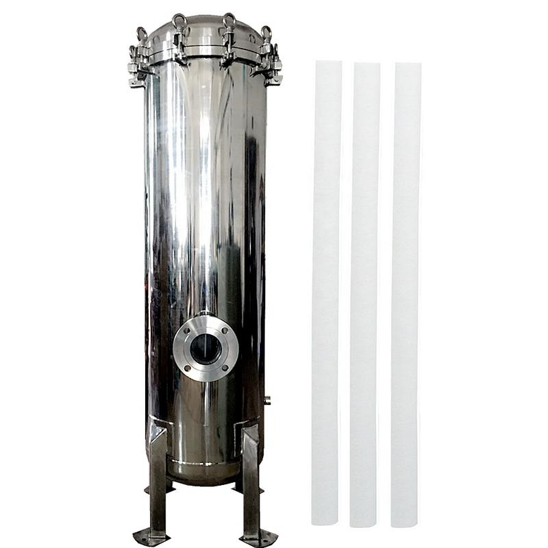 40 inch pp water filter cartridge with cartridge housing for RO plant pre filtration