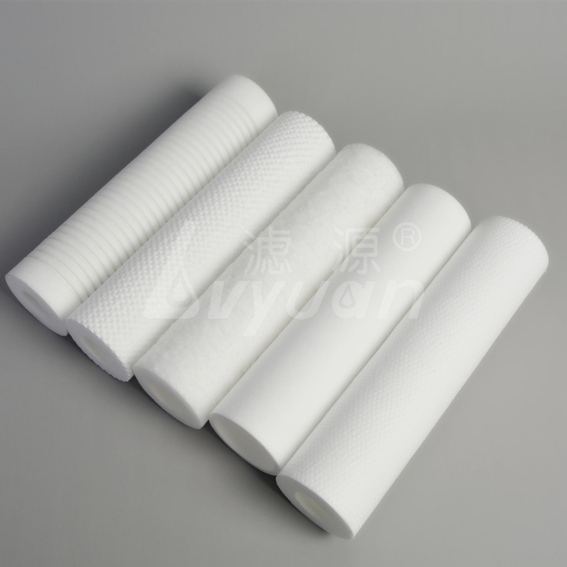 10 Inch PP melt blown Filter Cartridge sedeiment Water Cartridge 1 5 10 micon customized surface