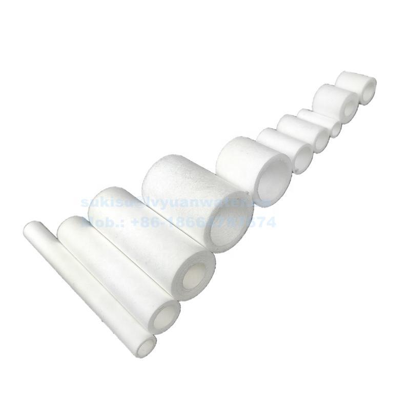 10um Porous Plastic PP bond 5 micron spun polypropylene filter cartridge for gas air water purification spare parts