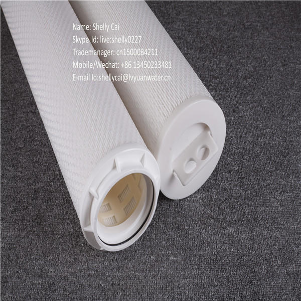 Big flow PP pleated 20 inch20 microns rate filtration sediment water filter cartridge