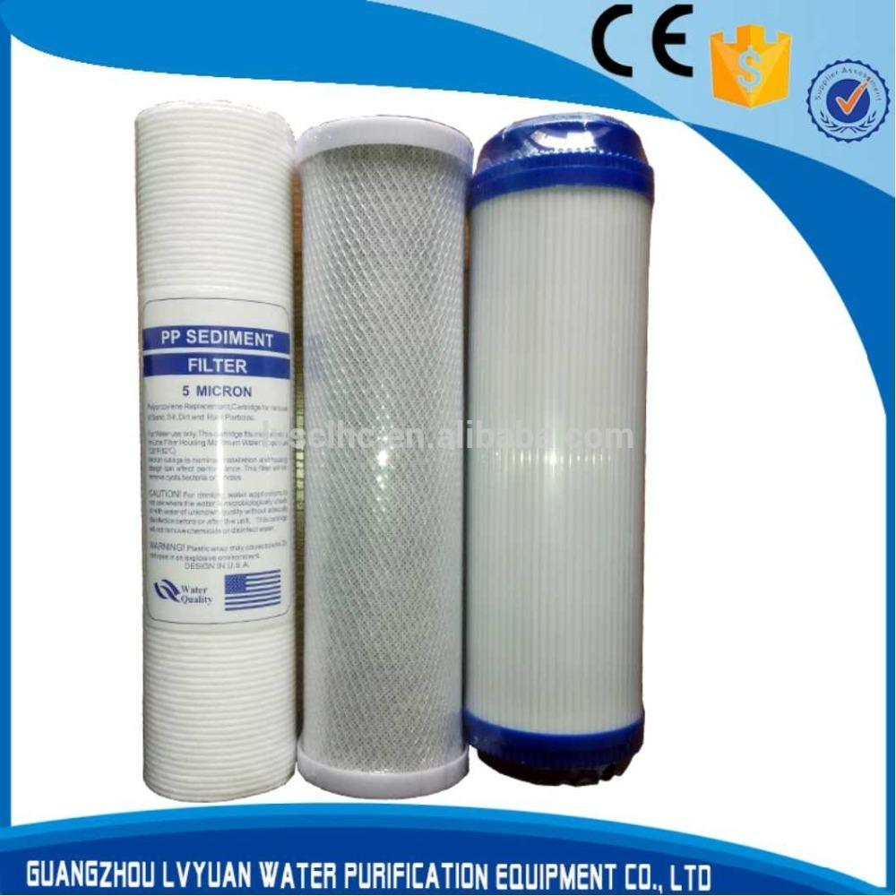 20 inch water filter PP + UDF + CTO cartridge for household pre-filtration