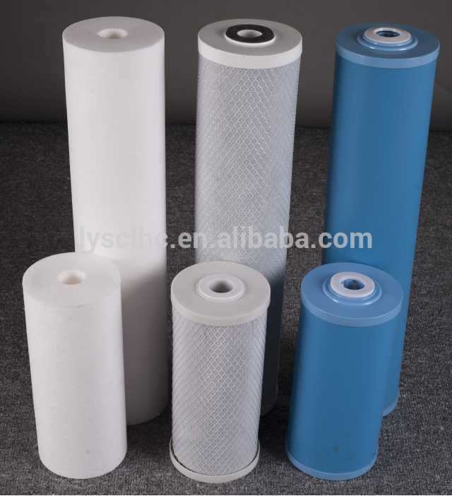Household Pre-filtration use and Reverse Osmosis type PP spun CTO GAC UDF water filter Cartridge 10 20