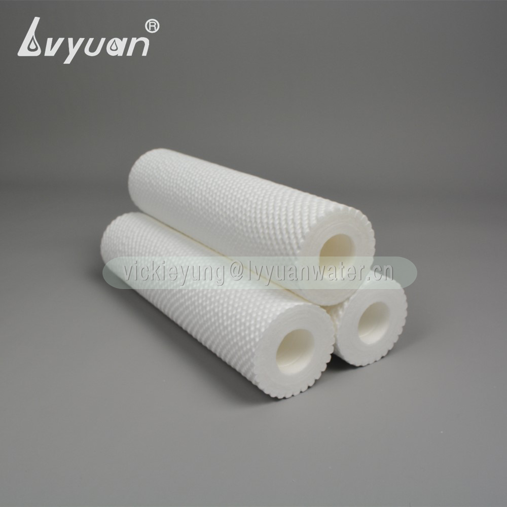 Double layers microns filtration (5 micronx10 micron) spun polypropylene filter cartridge for water treatment purification