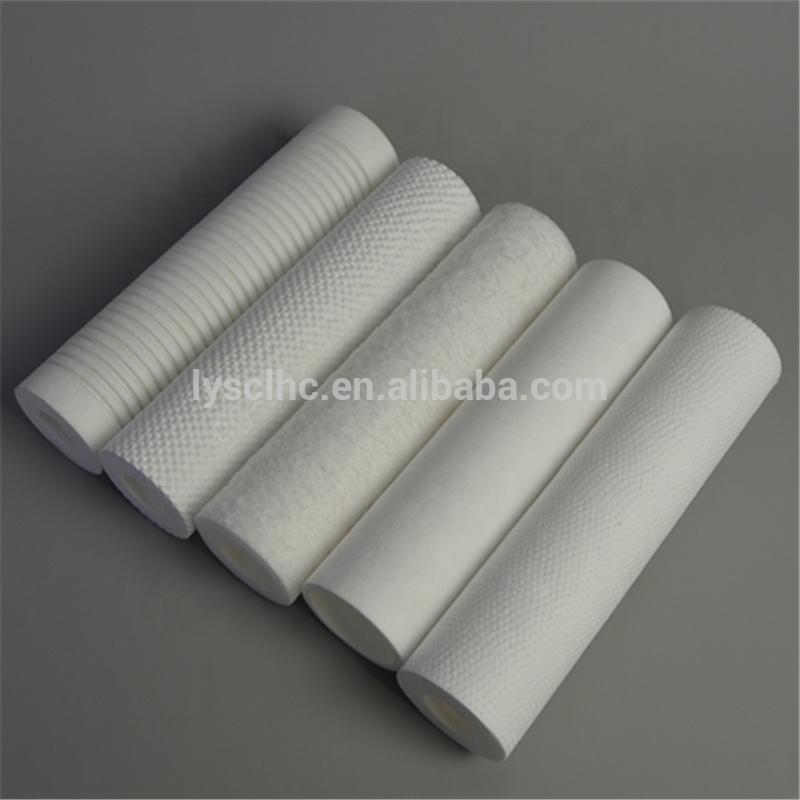 Wrinkle Hard Orange Peel Surface PP water polypropylene melt blown dept filter cartridge from Guangzhou suppliers
