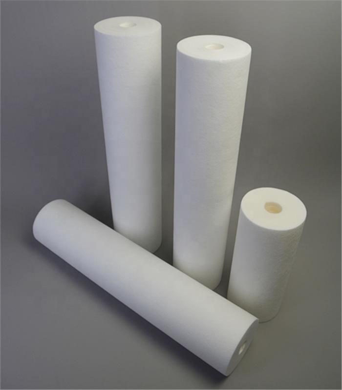 Polyspun PP sediment filter water 1 5 20 micron bonded cartridge for standard/unconventional